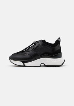 KARL LAGERFELD - AVENTUR LUX MIX LACE SHOE  - Sneakers laag - black