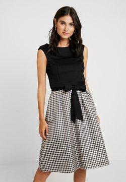 Apart - HEAVY DRESS WITH DOTS - Jerseykleid - black/beige