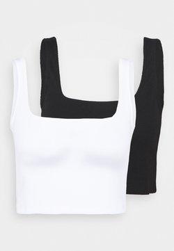 Even&Odd - 2 PACK - Toppi - black/white