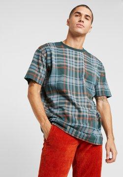 Urban Classics - CHECK OVERSIZED HEAVY TEE - T-shirts print - bottlegreen