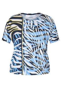Rabe 1920 - MIT EXOTISCHEM MUSTER UND üBERSCHNITTENEN SCHULTERN - T-Shirt print - dunkelblau