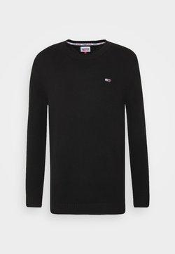Tommy Jeans - ESSENTIAL CREW NECK UNISEX - Neule - black