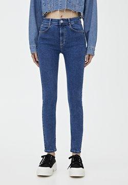 PULL&BEAR - PUSH UP - Jeansy Skinny Fit - light-blue denim