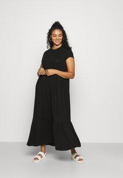 Simply Be - TIERED SMOCK MIDAXI DRESS - Maxikleid - black