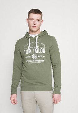 TOM TAILOR - HOODIE  - Felpa con cappuccio - oak leaf green