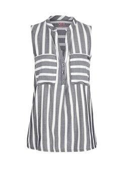Q/S designed by - Hemd - black stripes