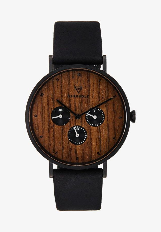 CASPAR - Cronografo - black/walnut