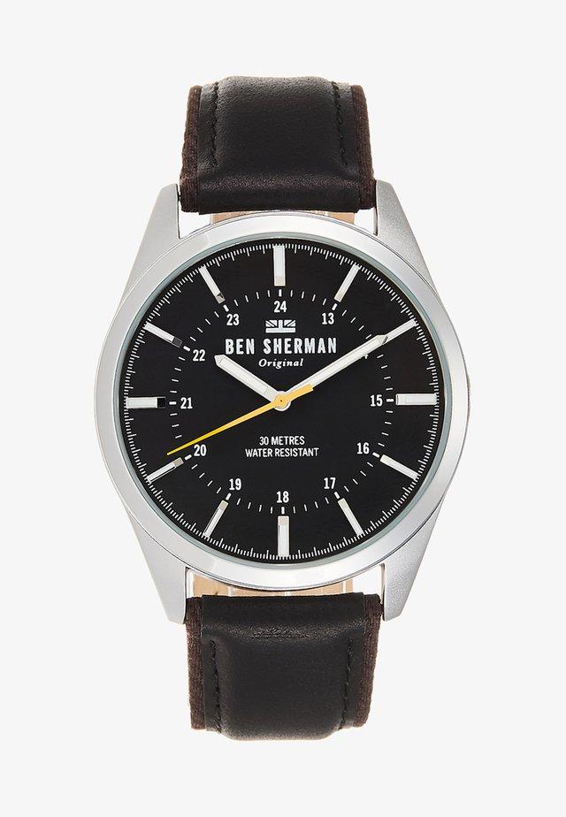 SPITALFIELDS OUTDOOR - Horloge - black/silver-coloured
