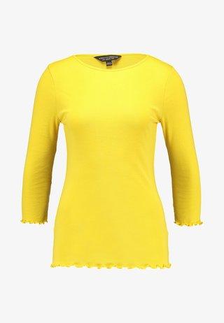 PLAIN LETTUCE EDGE - Langarmshirt - mustard