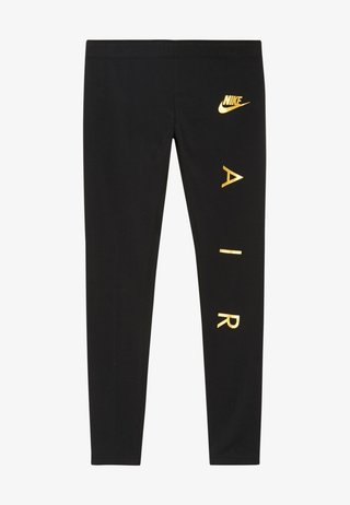 FAVORITES AIR - Legginsy - black/metallic gold