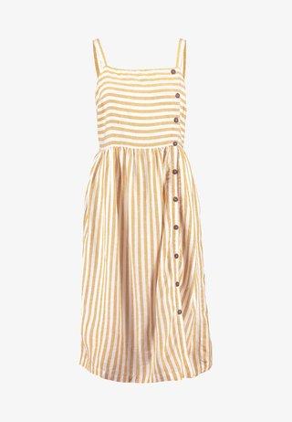 STRIPE BUTTON CAMI DRESS - Hverdagskjoler - yellow