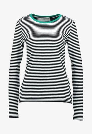 Langarmshirt - white/black/green