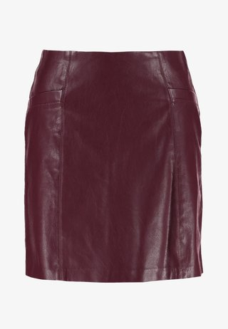 SKIRT - Minirock - burgundy