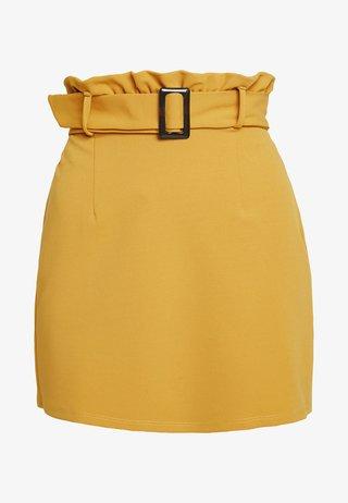PAPERBAG SKIRT - Áčková sukně - ochre