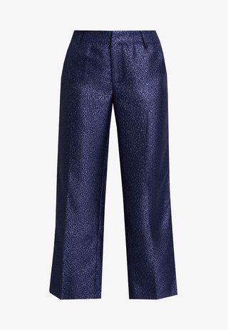LYNNE EVENING CULOTTE PANTS - Stoffhose - royal navy blue