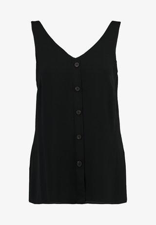 BUTTON THROUGH CAMI - Bluse - black