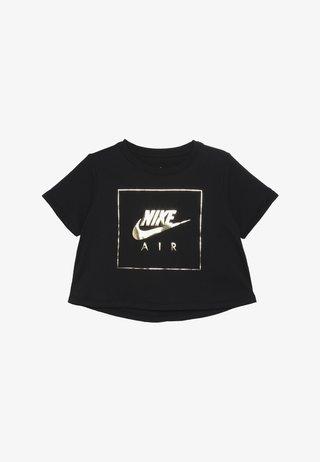 TEE CROP AIR - Camiseta estampada - black