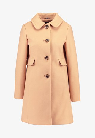 BUTTON FRONT DOLLY - Short coat - camel