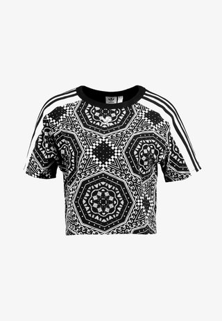 CROP TEE - T-shirts print - black