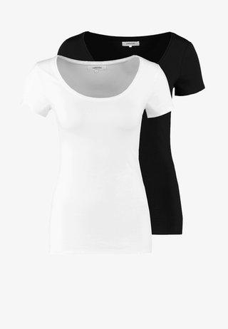 2 PACK - T-shirt basic - black/white