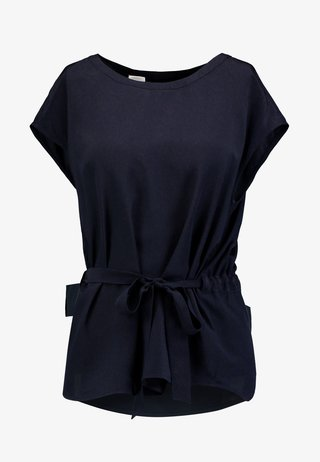BLOUSE BELT WITH TUNNEL AT BACK - Bluse - pure navy