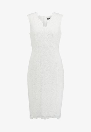 SCALLOP V NECK SHIFT - Cocktailkleid/festliches Kleid - ivory