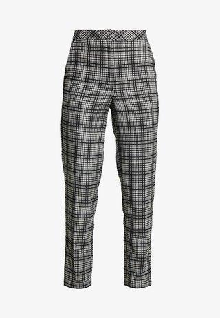 MONO CHECK TROUSERS - Pantalon classique - black/white