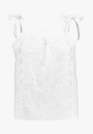 SQUARE NECK CAMI - Bluse - white