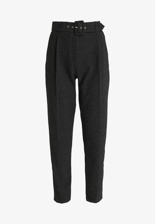 SPOT TROUSER - Trousers - black