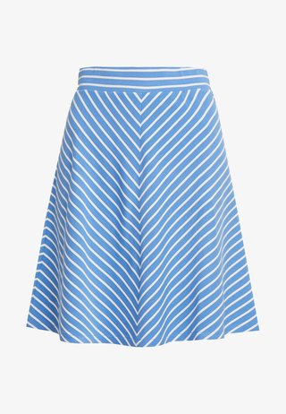 EASY STRIPED SKIRT - A-Linien-Rock - blue