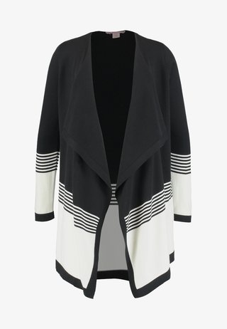 Strickjacke - black/off-white