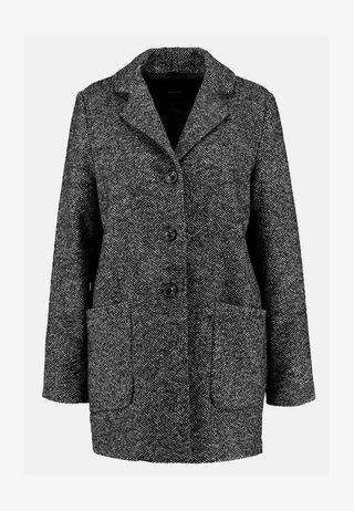 HARALDA HERINGBONE - Short coat - black