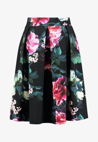 A-line skirt - black/pink