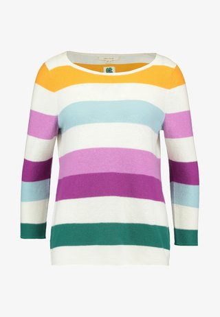 STRIPE JUMPER - Jersey de punto - orange