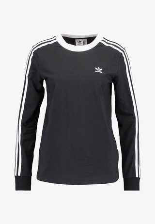 ADICOLOR 3 STRIPES LONGSLEEVE TEE - Long sleeved top - black