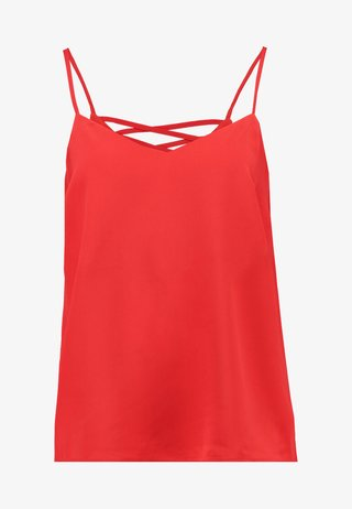 CROSS BACK CAMI - Top - bright red