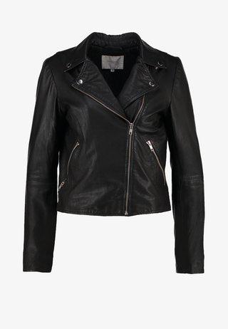 SFMARLEN - Leather jacket - black
