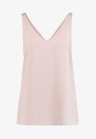 V NECK CAMI - Bluse - blush/smoke pink