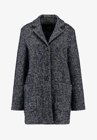 HARALDA HERINGBONE - Short coat - simply blue