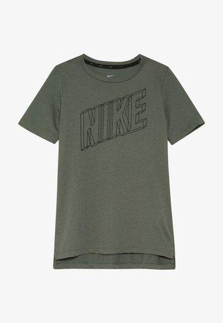 Print T-shirt - juniper fog/black