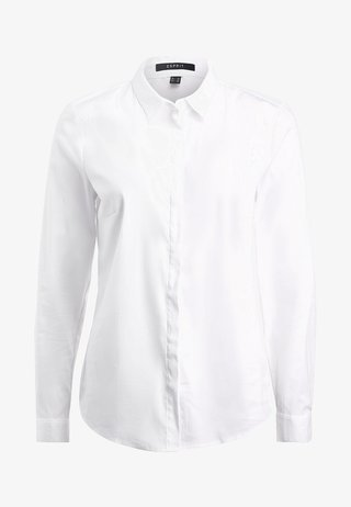 SOFT BUSINESS - Button-down blouse - white