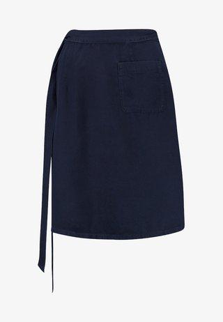 WRAP SKIRT SHORT LENGTH - A-snit nederdel/ A-formede nederdele - blue denim