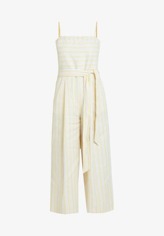 STRIPE SQUARE NECK JUMPSUIT - Tuta jumpsuit - yellow