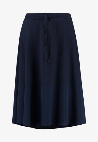 SKIRT BOTTOM CUFF - A-line skirt - midnight blue