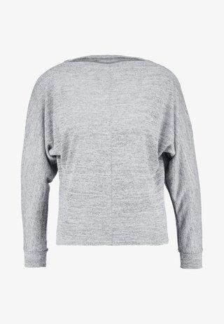 BOXY BOATNECK - Strikpullover /Striktrøjer - grey