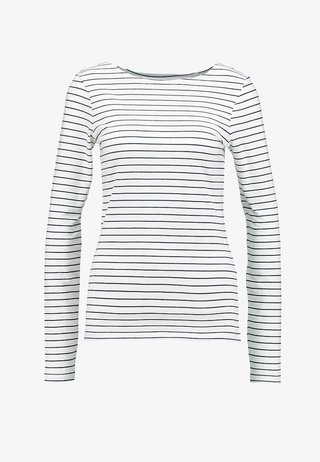 Long sleeved top - offwhite/dark blue