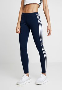 adidas Originals - ADICOLOR TREFOIL TIGHT - Legging - collegiate navy - 1