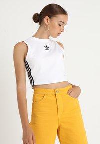 adidas Originals - CROP TANK - Linne - white - 1
